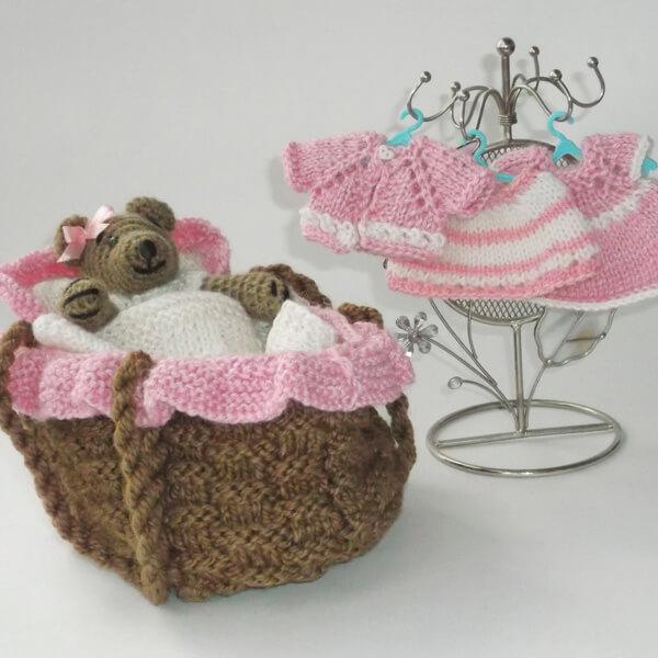 мишка в корзинке